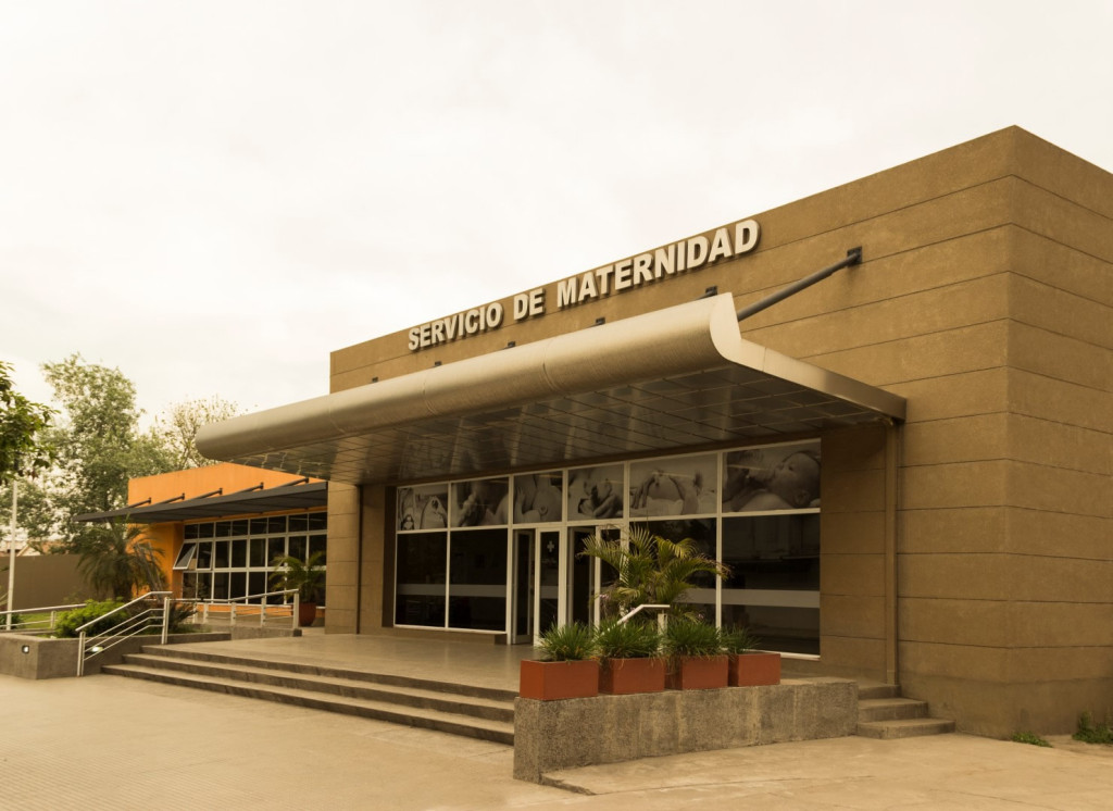 Hospital Belascuain new buildings with maternity ward neonatology sterilization and a pharmacy. City of Concepción